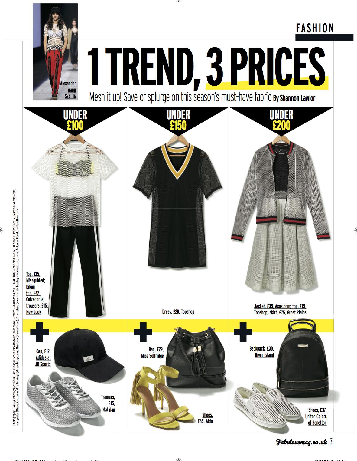 1 Trend, 3 Prices